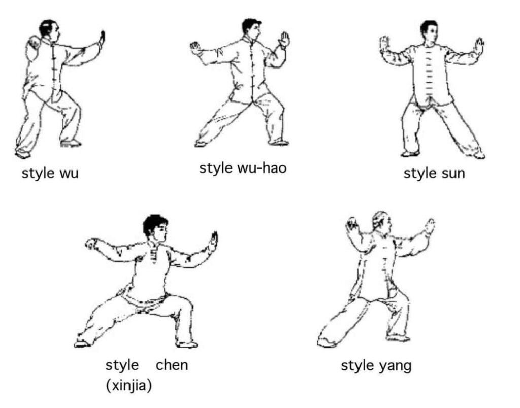 Histoire du Tai Chi Les Styles - Comparatif du mouvement simple fouet