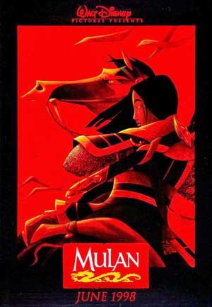 chinoises kungfu Femmes Hua Mulan Affiche Disney 1998