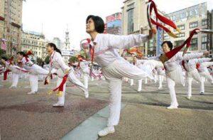 chinoises kungfu Femmes Hua Mulan Tai Chi Shanghai Womens Day