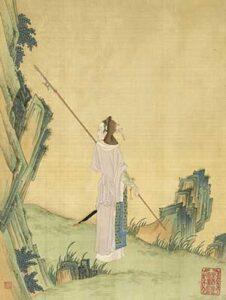 chinoises kungfu Femmes hua mulan peinture lance