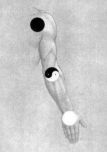 Tai-Chi Style Chen Méthode des Trois Cercles Yin Yang Bras