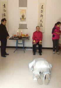 taijiquan style chen parc cérémonie disciple chenjiagou